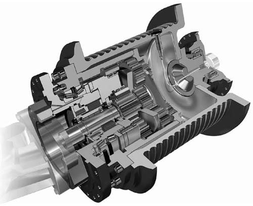 液压卷扬机通常由液压马达,控制阀组,齿轮箱,滚筒,支架,(离合器)图片
